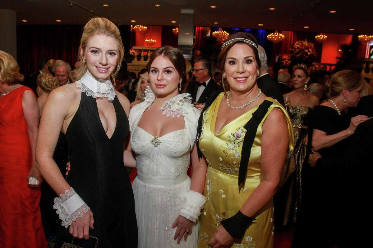 Alanna, from left, Meredith and Cherie Flores at the Museum of Fine Arts Houston annual Grand Gala Ball.