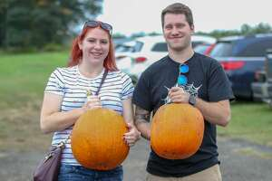 People came out to pick apples and pumpkins and enjoy the warm weather at Blue Jay Orchards in Bethel on October 7, 2018. Were you SEEN?