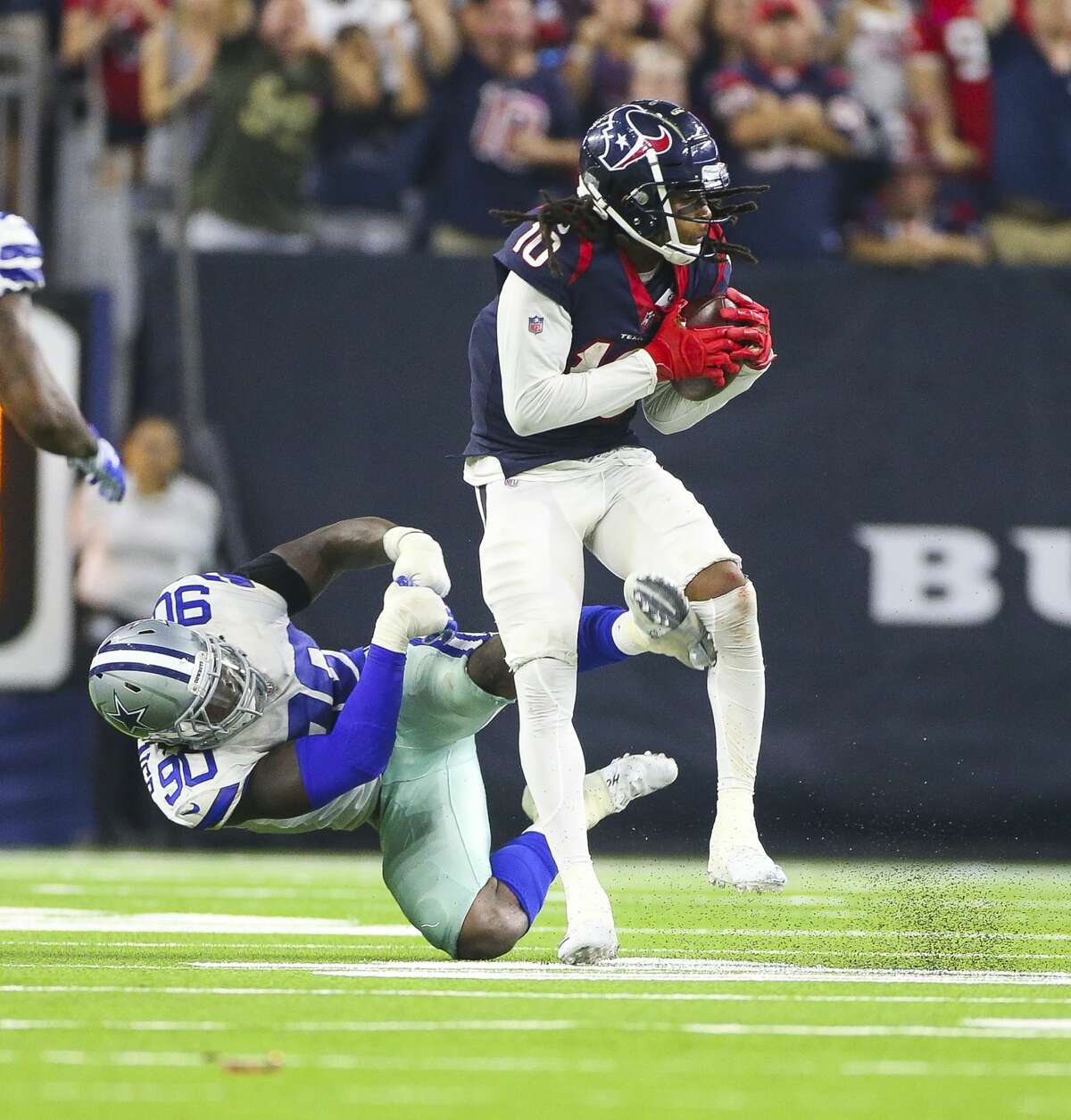 Houston Texans wide receiver DeAndre Hopkins Opposing team's fans say he should get called for more interference penalties. We say they are just jealous.