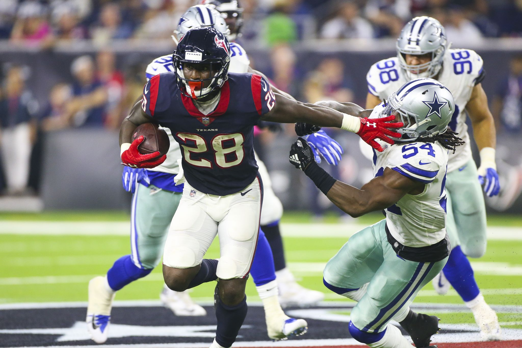 Alfred Blue fills in capably for Texans