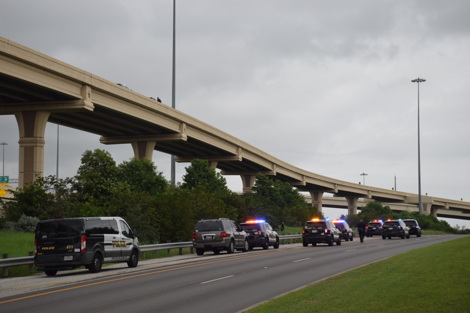 Major Highway Interchange Reopens After Man Jumps From