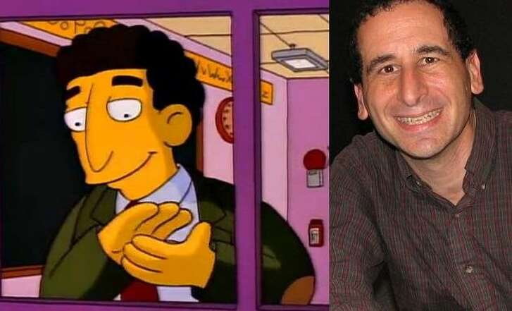 "Mike Reiss, who has written for ""The Simpsons"" since it began -- and who was immortalized, left, in the ""Lisa's Substitute"" episode -- will talk about his book ""Sprinfield Confidential"" at the Barshop Jewish Community Center."