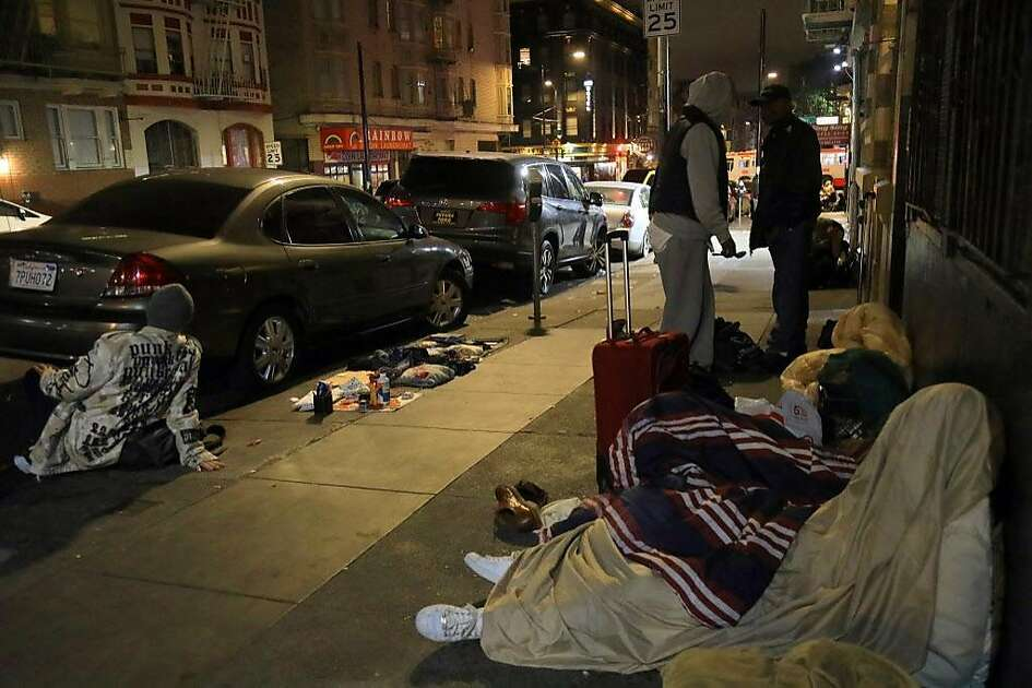 homeless people on the 300 block of hyde street in san francisco sept 14 - Local Kitchen Sf