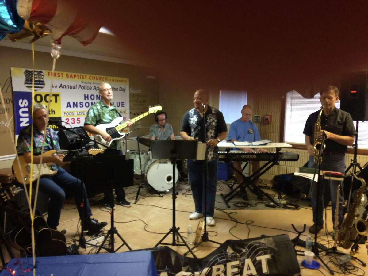 Backbeat performs at the third annual Back the Blue Oct. 7, 2018 which is a fundraising effort by First Baptist Church to help outfit Ansonia Police