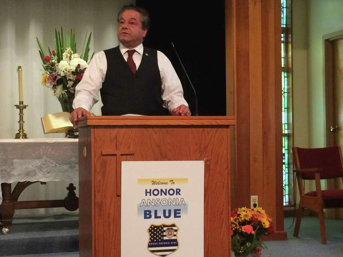 Ansonia Mayor David Cassetti told those attending the Back the Blue police appreciation event at First Baptist Church Oct. 8, 2018 that there will soon be a state-of-the art police headquarters on 65 Main Street.