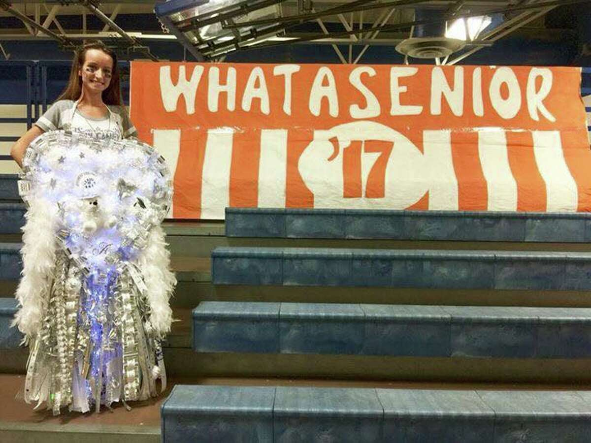 This 2017 senior celebrated homecoming the only way most Texans know how - with a Whataburger themed mum.