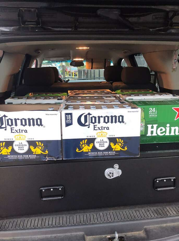 Beer seized by police after an undercover officer found out that beer was being served illegally at Rincon Latino on West Main Street in Stamford. Photo: Stamford Police / Contributed