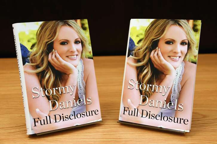 "LOS ANGELES, CA - OCTOBER 04:  Copies of Stormy Daniels's new book ""Full Disclosure"" are displayed at Barnes & Noble at The Grove on October 4, 2018 in Los Angeles, California.  (Photo by Amanda Edwards/Getty Images)"