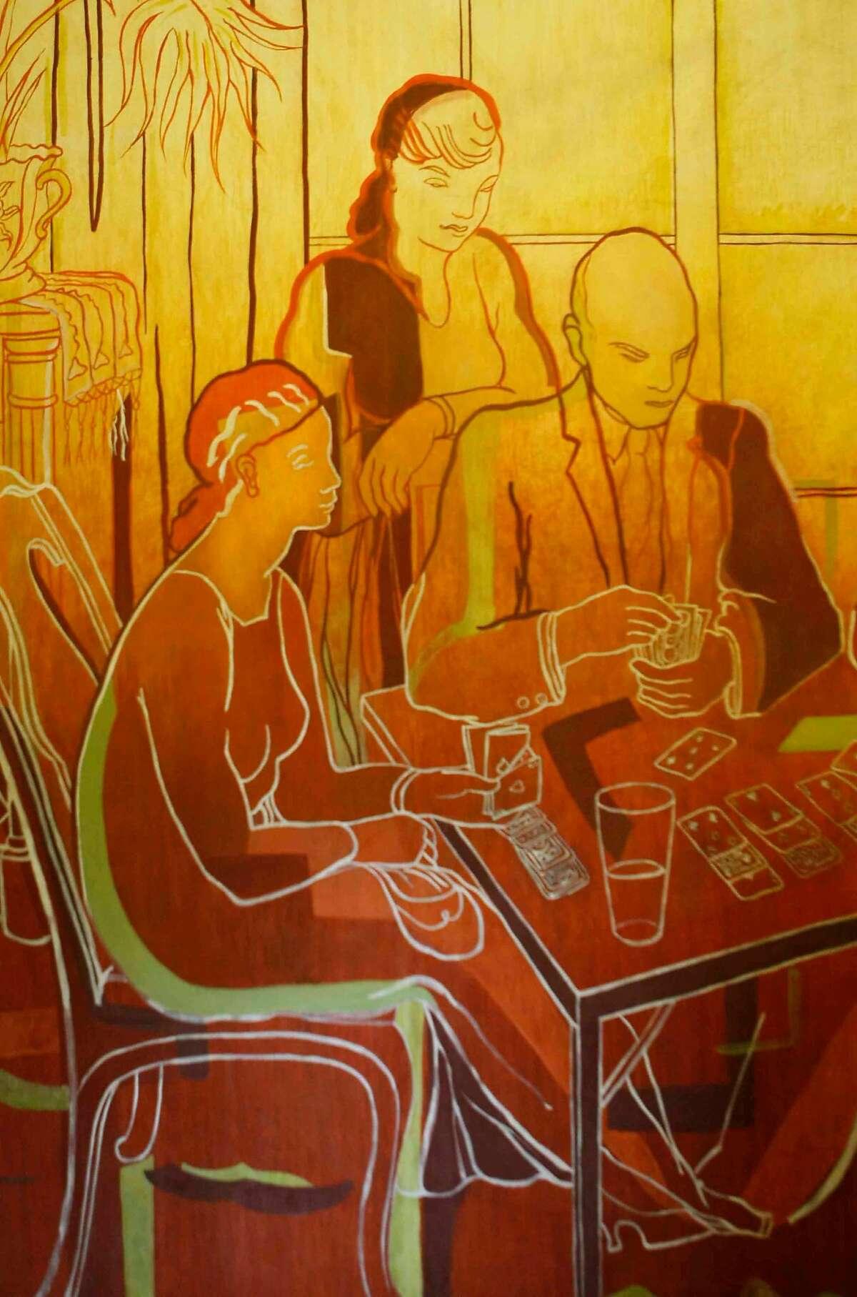 'Home Life,' a Coit Tower mural by Jane Berlandina