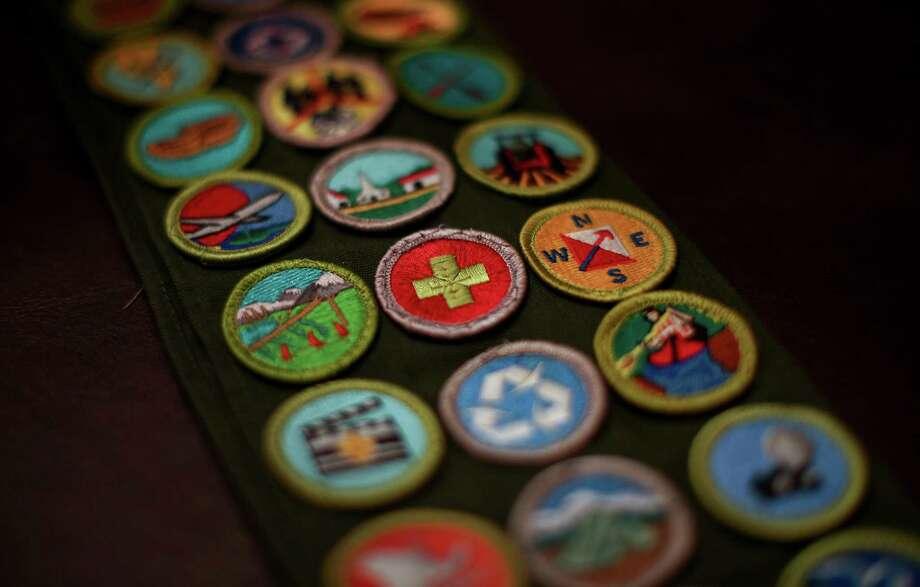 A BSA merit badge sash. Photo: Jon Shapley / © 2015  Houston Chronicle
