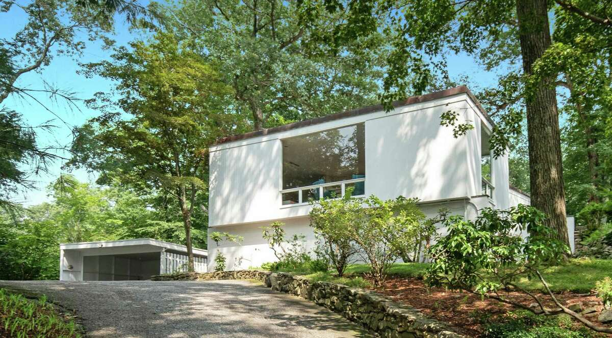 The signature mid-century modern Beaven W. Mills House at 31 Chichester Road is on the National Register of Historic Places.