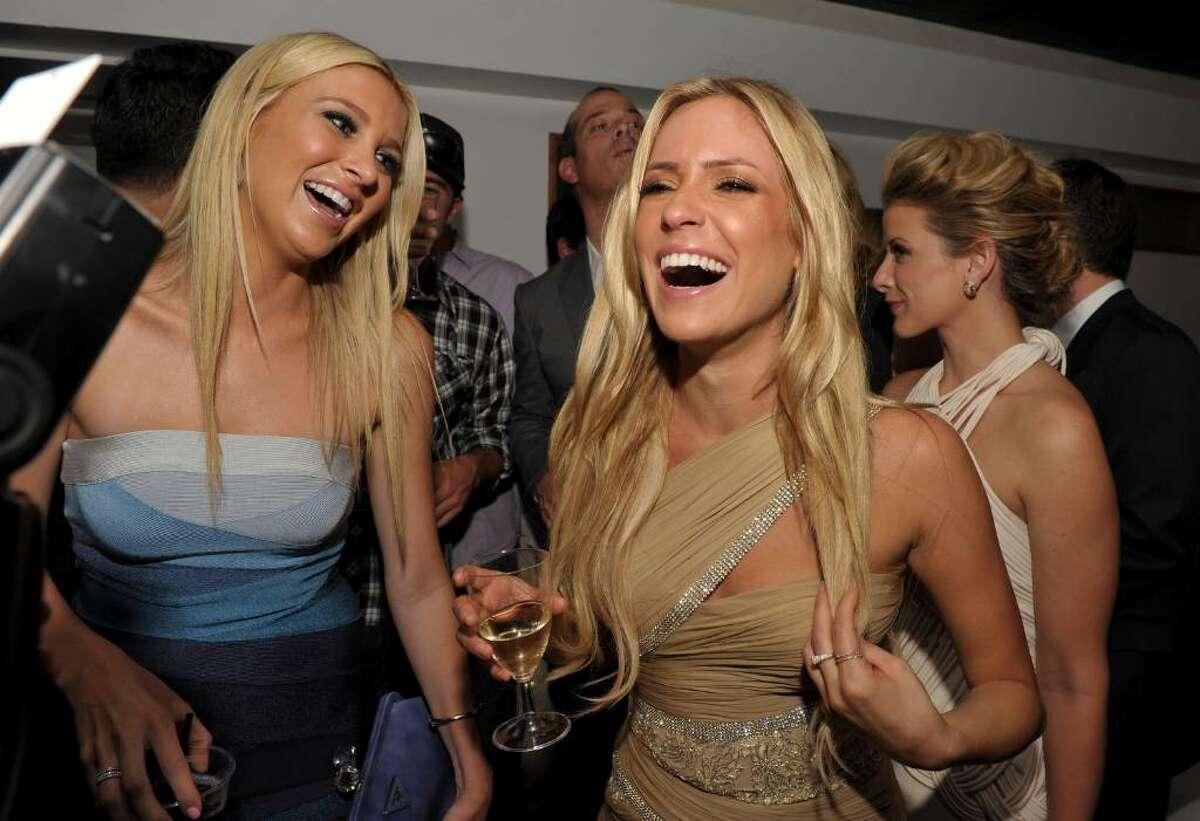 HOLLYWOOD - JULY 13: Stephanie Pratt and Kristin Cavallari toast at MTV's
