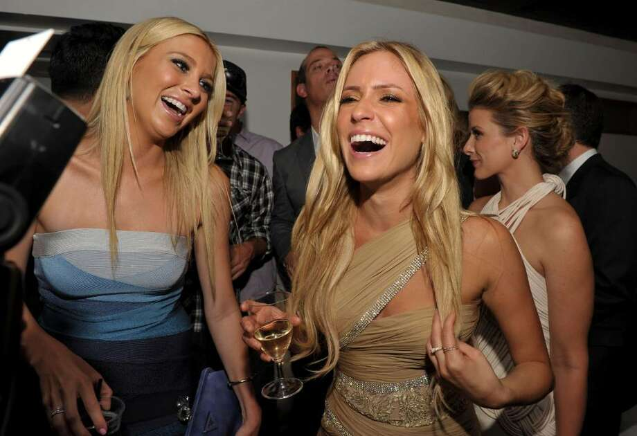 """HOLLYWOOD - JULY 13:  Stephanie Pratt and Kristin Cavallari toast at MTV's """"The Hills Live: A Hollywood Ending"""" Finale event held at The Roosevelt Hotel on July 13, 2010 in Hollywood, California.  (Photo by John Shearer/Getty Images for MTV.com) *** Local Caption *** Stephanie Pratt;Kristin Cavallari Photo: John Shearer, Getty Images For MTV.com / 2010 Getty Images"""