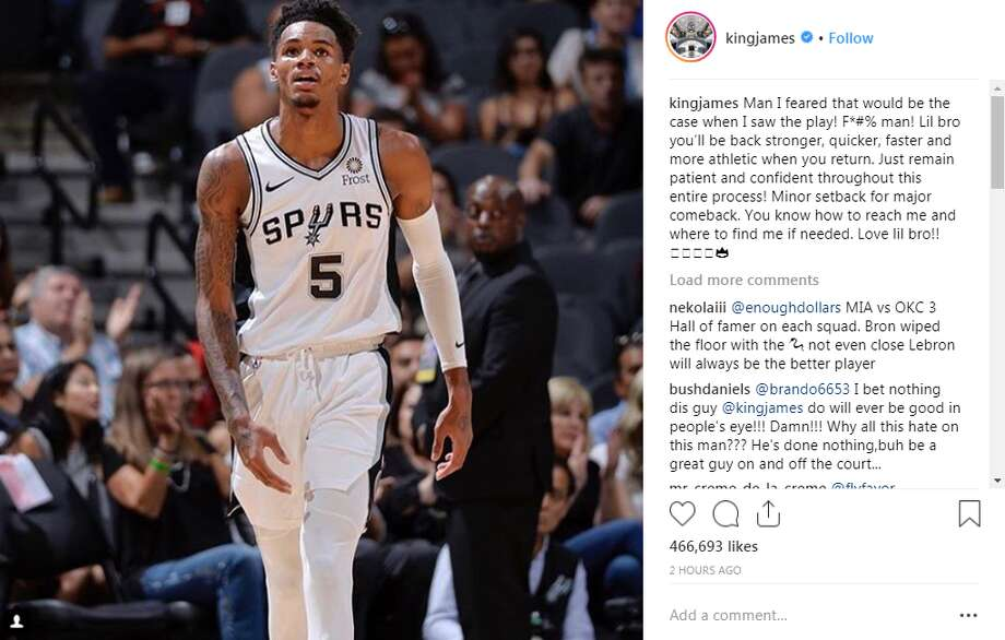 kingjames: Man I feared that would be the case when I saw the play! F*#% man! Lil bro you'll be back stronger, quicker, faster and more athletic when you return. Just remain patient and confident throughout this entire process! Minor setback for major comeback. You know how to reach me and where to find me if needed. Love lil bro!! Photo: Twitter Screengrabs