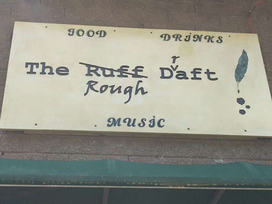 The sign for The Rough Draft, which hangs above the entrance to the new music bar in the building that used to be The Space at 295 Treadwell St. in Hamden. Photo: Mark Zaretsky / Hearst Connecticut Media File