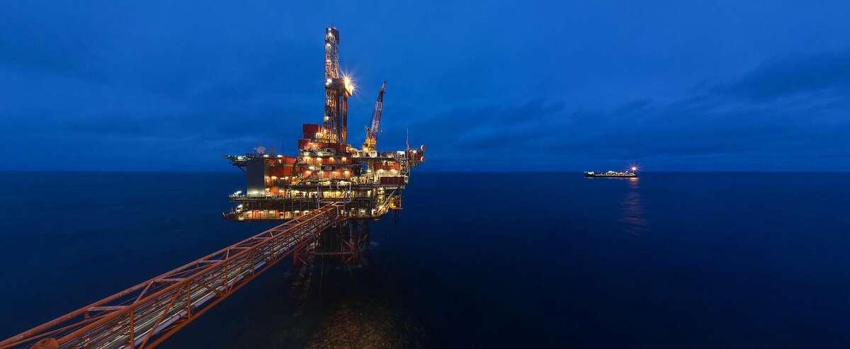 A Chevron platform in the North Sea.