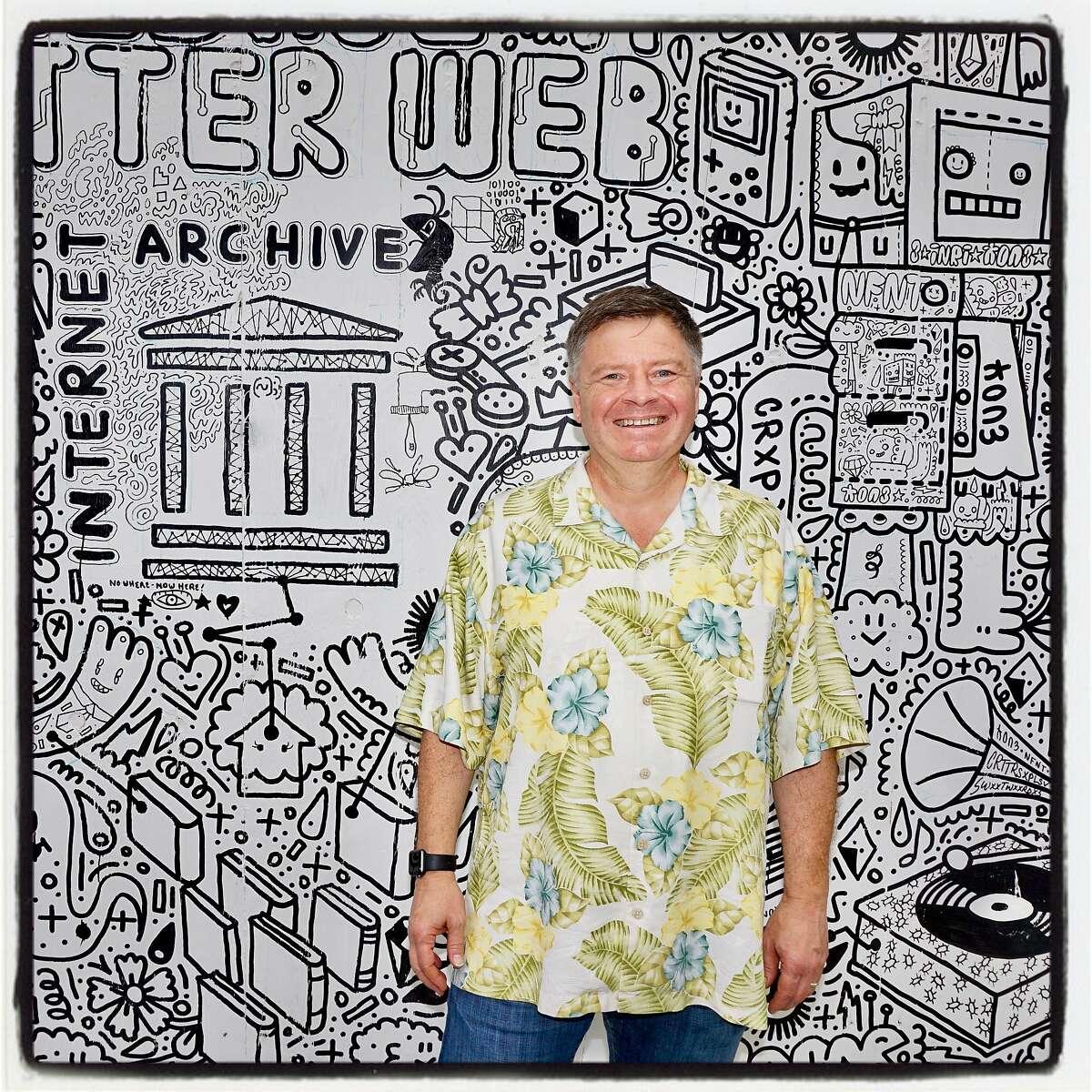 Wayback Machine Director Mark Graham at the Internet Archive Bash. Oct. 3, 2018.