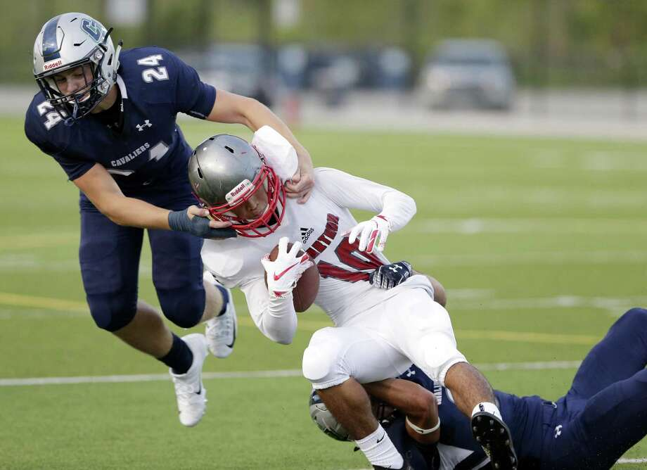 College Park linebacker Dylan Hazen (24) has been a key contributor for the Cavaliers' defense this year. Photo: Michael Wyke, Houston Chronicle / Contributor / © 2018 Houston Chronicle
