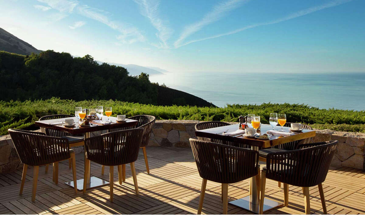Outdoor dining at Ventana Big Sur-- soon to be a Hyatt Hotels property