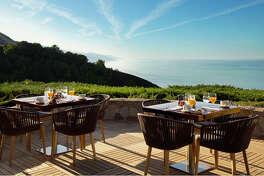 Outdoor dining at Ventana Big Sur.