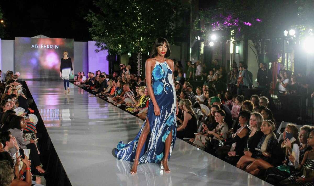 Abiferrin showed breezey evening wear on the runway at Fashion X in River Oaks District.