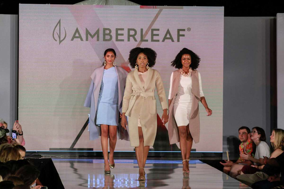 Amberleaf's collection included pastels on the runway at Fashion X in River Oaks District.