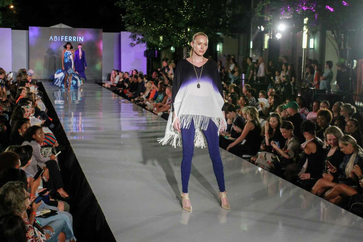 Abiferrin's cashmere tops were a hit with the crowd at Fashion X in River Oaks District.