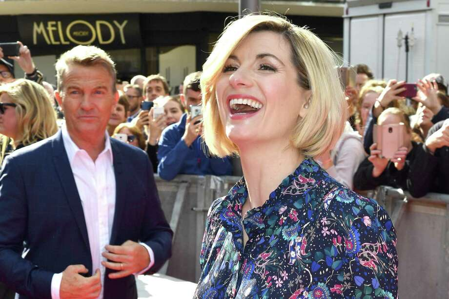 "Bradley Walsh and Jodie Whitaker arrives at the ""Doctor Who"" premiere screening in Sheffield, England. Photo: Anthony Devlin, Stringer / Getty Images / 2018 Getty Images"