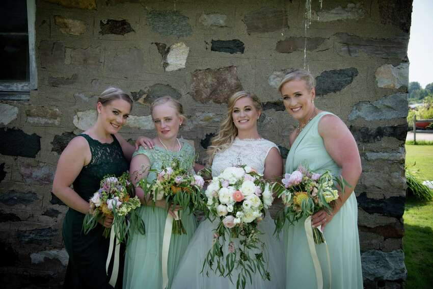 Four sisters - Allison King, Abby Jackson, Amy Steenburg and Mary Dyson - were killed in a limo crash traveling for Amy's 30th birthday party in Schoharie on Oct. 6, 2018. Here they are pictured at Amy's wedding on June 30, 2018.