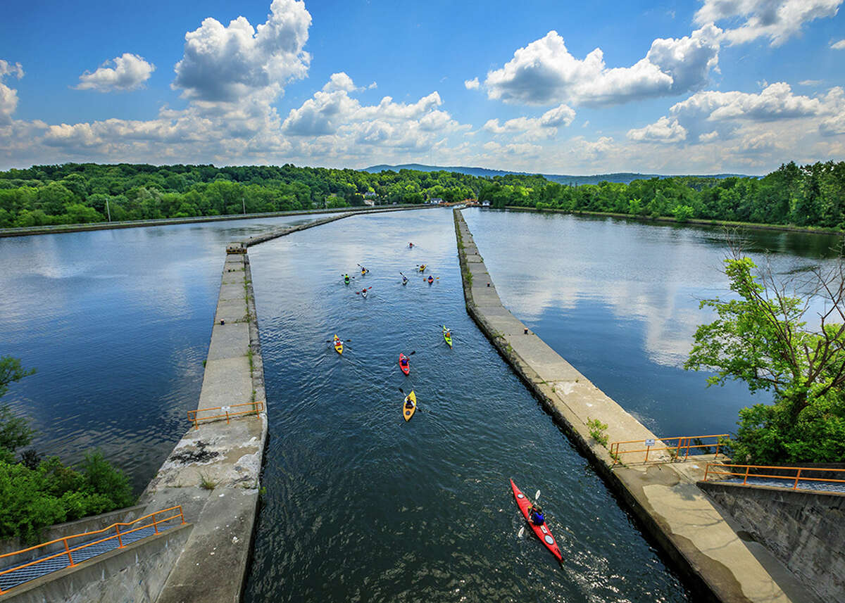 Paddling the Waterford Locks by Stefanie Obkirchner of Amsterdam took second place in the Along the Trai? category of the 13th annual Erie Canalway Photo Contest.