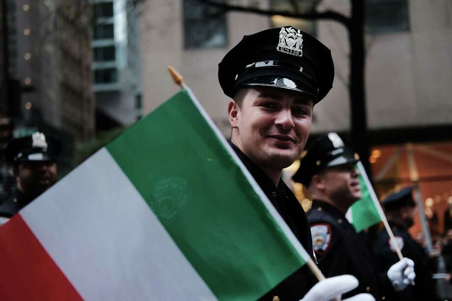 NEW YORK, NY - OCTOBER 08: A corrections officer marches in the annual Columbus Day parade on October 8, 2018 in New York City. Organized by the Columbus Citizens Foundation, the parade is billed as the world's largest celebration of Italian-American heritage and culture and has been run since 1929. The parade runs from 44th Street to 72nd Street and is also used as a showcase for local politicians, civic groups, marching bands and city workers.  (Photo by Spencer Platt/Getty Images) ***BESTPIX*** Photo: Spencer Platt / 2018 Getty Images