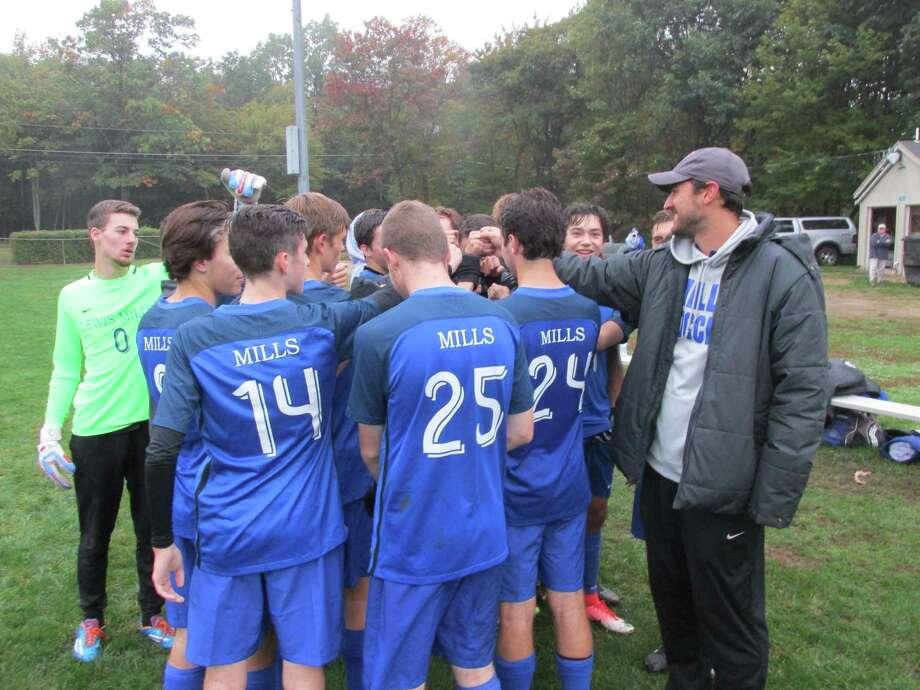 Lewis Mills boys soccer took over against a tough Northwestern challenge for a win going away at Burlington's Nassahegan Field Monday afternoon. Photo: Peter Wallace / For Hearst Connecticut Media