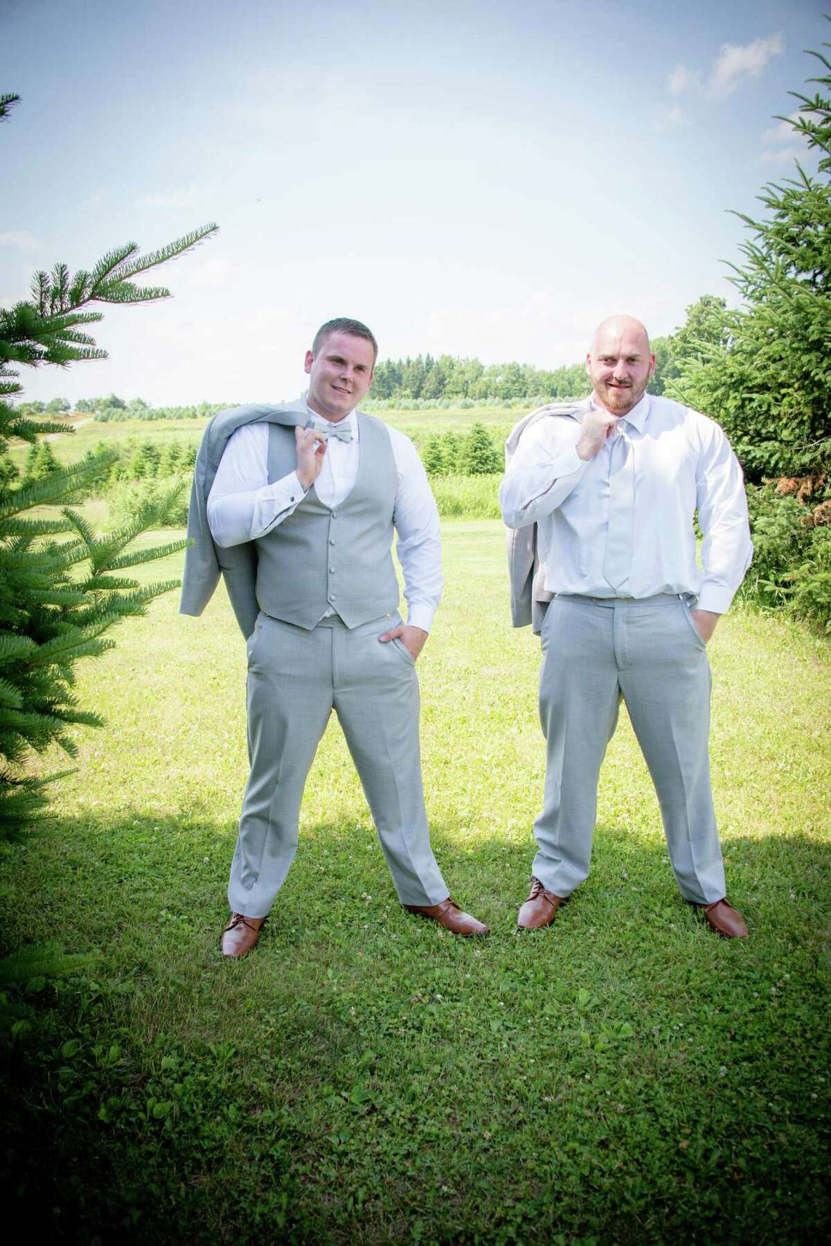 Brothers Axel and Rich Steenburg were both killed in a limo crash in Schoharie on Oct. 6, 2018. Here they are pictured on Axel?'s wedding day on June 30, 2018.