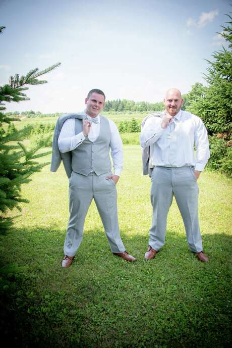 Brothers Axel and Rich Steenburg were both killed in a limo crash in Schoharie on Oct. 6, 2018. Here they are pictured on Axel's wedding day on June 30, 2018. Photo: Courtesy Of All Occasions Photography.