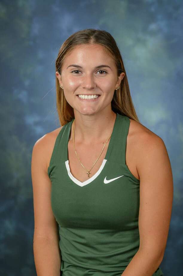 Averill Park High School graduate Jacqueline Bornt of the Hudson Valley women's tennis team. (Courtesy of Hudson Valley Community College) Photo: VINCENT GIORDANO For HVCC / Copyright 2018 Hudson Valley Communty College