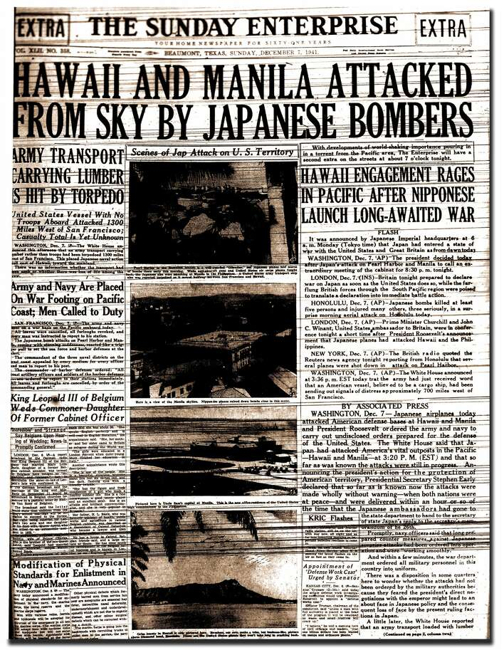December 7, 1941: The attack on Pearl Harbor Photo: Enterprise Archives