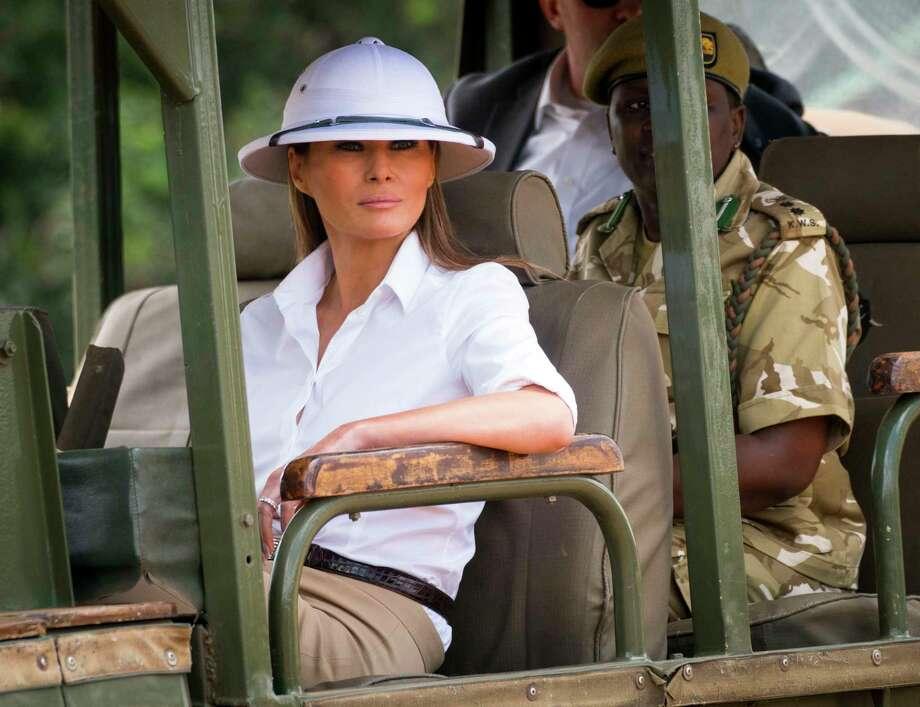 First lady Melania Trump on a safari at Nairobi National Park in Nairobi 4c86a42d551