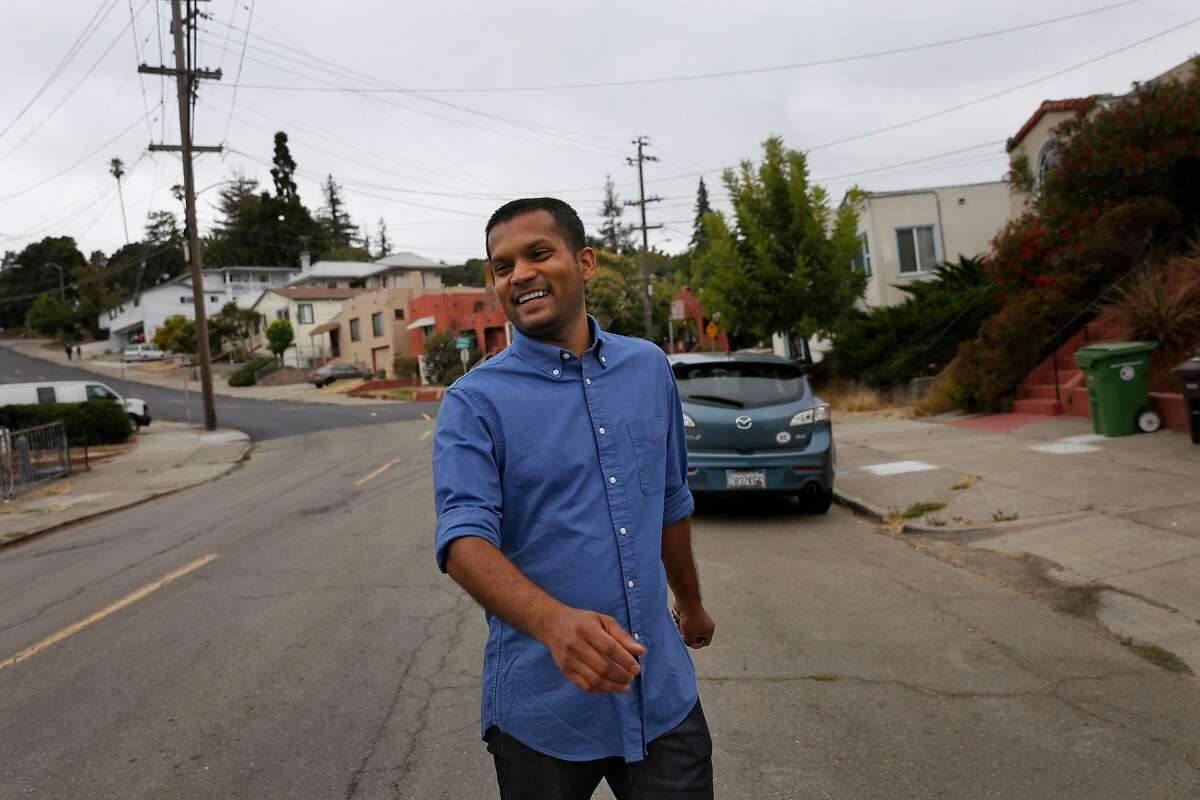 "Nik Sharma, author of the cookbook ""Season,"" walks through his neighborhood in Oakland."