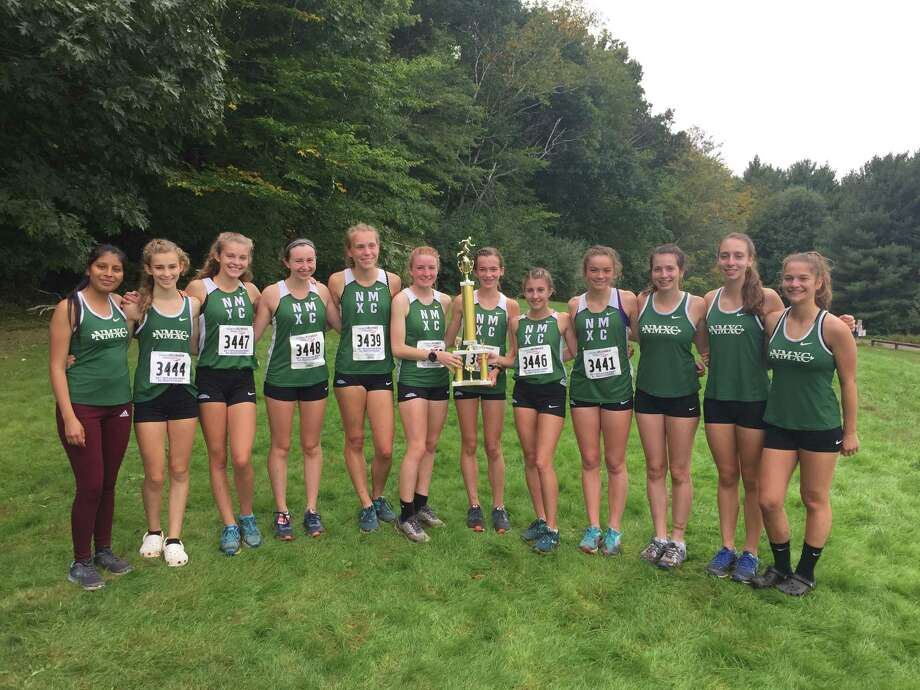The New Milford girls cross country team won the unseeded race at Wickham Park on Saturday. Photo: Contributed Photo / The News-Times Contributed