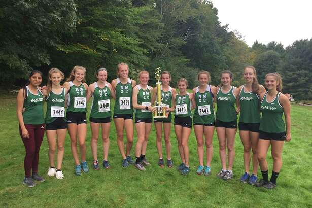 The New Milford girls cross country team won the unseeded race at Wickham Park on Saturday.