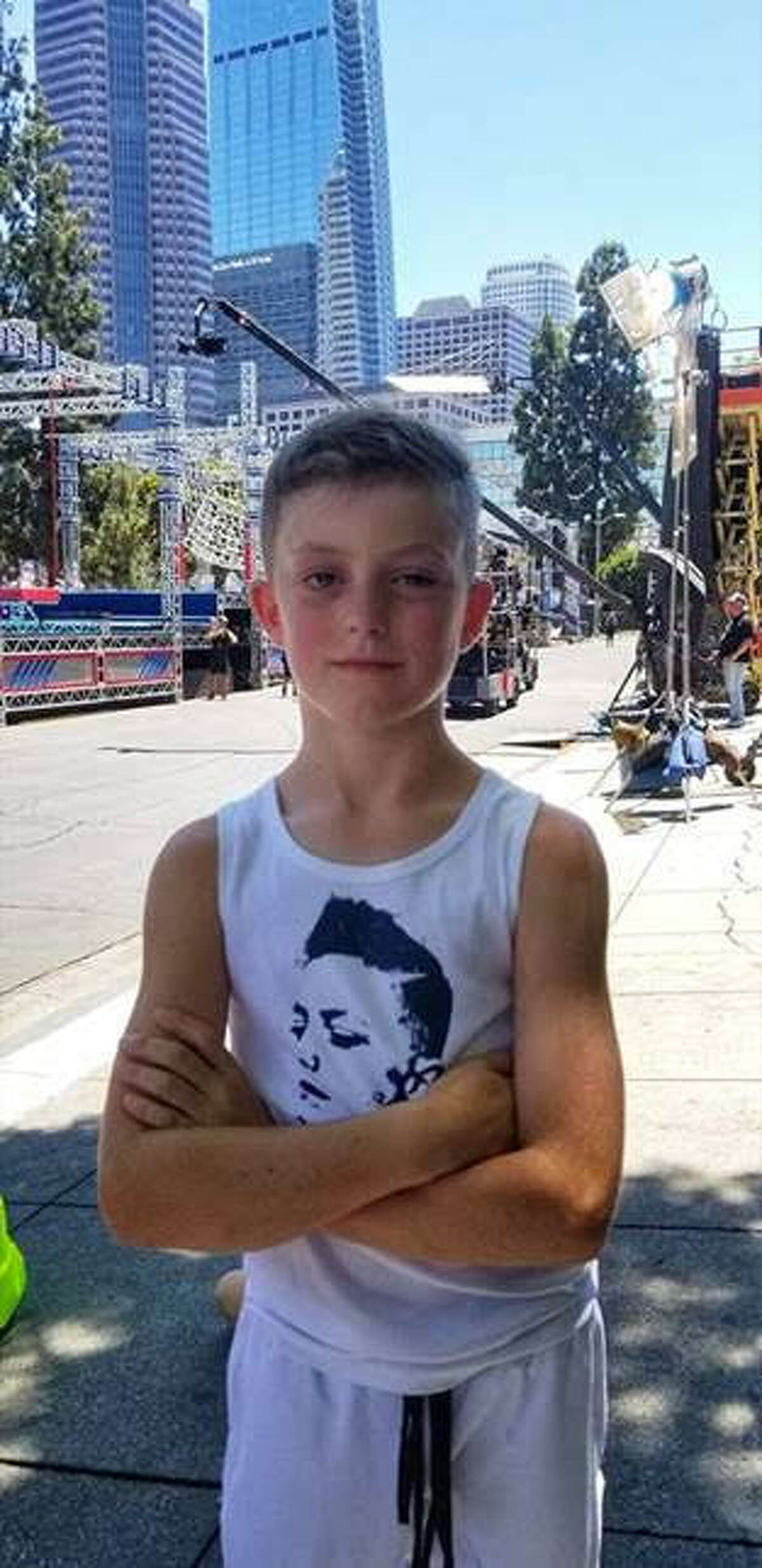 """Oliver Huss, 9 of Saratoga Springs will be featured on the new series """"American Ninja Warrior Junior"""" on the Universal Kids channel."""