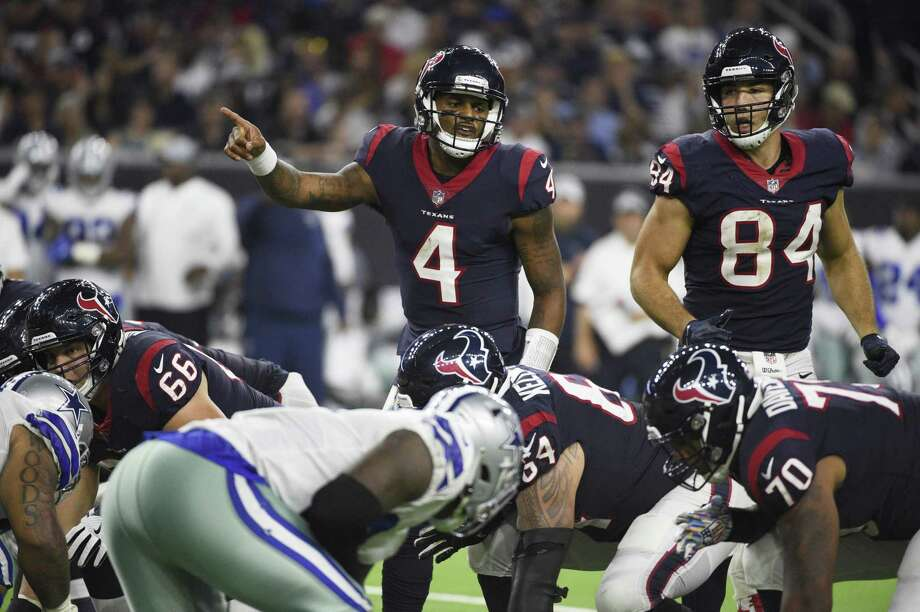 Houston Texans quarterback Deshaun Watson (4) during the first half of an NFL football game against the Dallas Cowboys, Sunday, Oct. 7, 2018, in Houston. Photo: Eric Christian Smith, FRE / Associated Press / Copyright 2018 The Associated Press. All rights reserved.