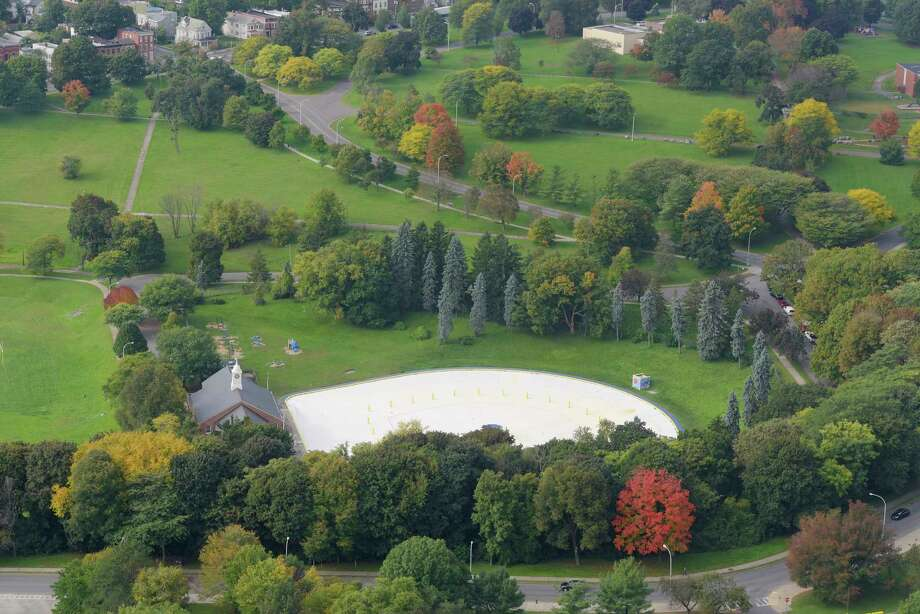 A view of Lincoln Park pool on Tuesday, Oct. 9, 2018, in Albany, N.Y.  (Paul Buckowski/Times Union) Photo: Paul Buckowski, Albany Times Union / (Paul Buckowski/Times Union)