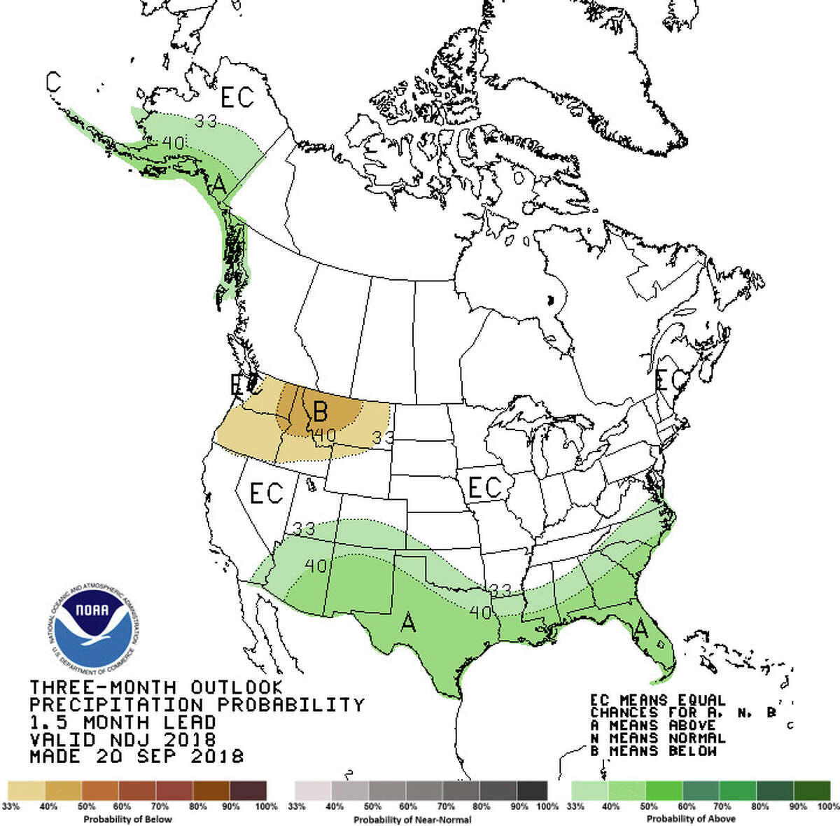 NOAA's three-month outlook shows the South and part of Alaska as wetter-than-normal, while the Northwest (except for most of Western Washington) as drier than normal. Adding in the likely effects of an expected El Nino, Washington may well be drier than normal. Keep clicking to see places where weather is getting worse thanks to climate change.