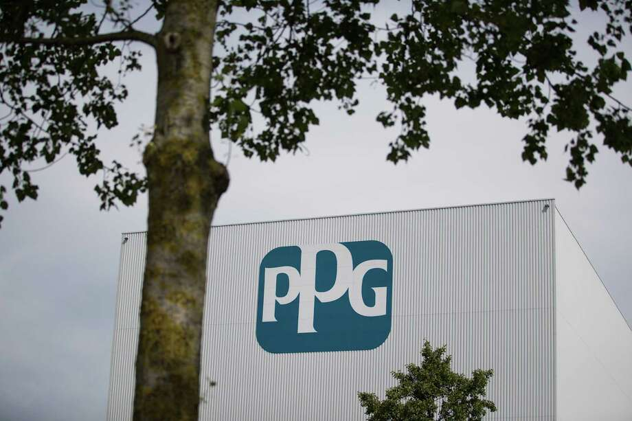 The PPG Industries Inc. logo sits on the exterior of the PPG paints and coatings factory in Amsterdam, Netherlands, on Tuesday, Aug. 1, 2017. PPG isn't letting its failed bid for Akzo Nobel NV and the global Dulux brand stop the U.S. coating giant's efforts to advance its cachet across Europe. Photographer: Jasper Juinen/Bloomberg ORG XMIT: 775015638 Photo: Jasper Juinen / © 2017 Bloomberg Finance LP