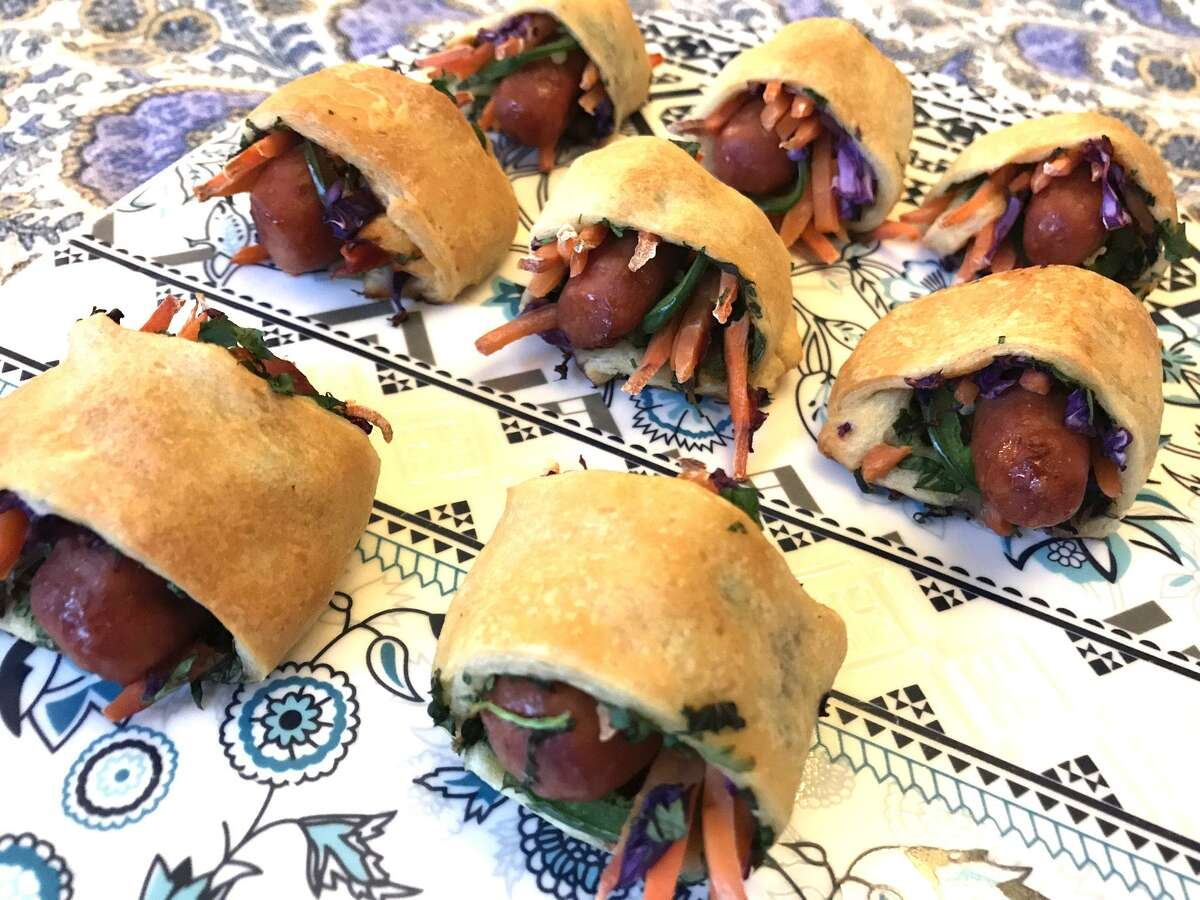 Thai Pigs in a Blanket bring Thai flavors to the classic pig in a blanket.