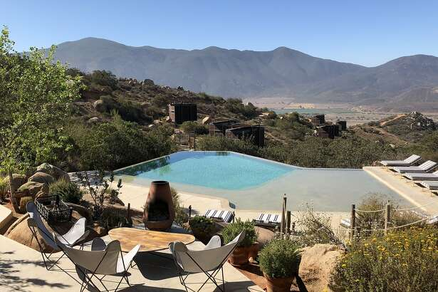 The lofts of Encuentro Guadalupe look over the Valle de Guadalupe, where you can plan your Baja wine country day.