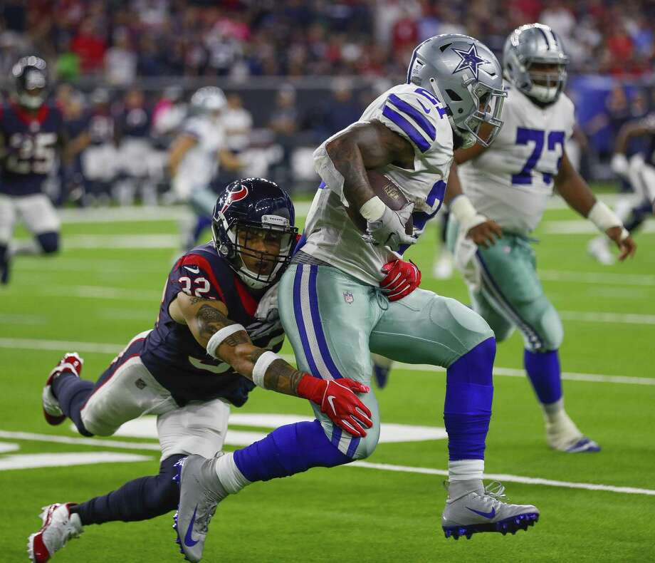 PHOTOS: John McClain's 2018 Week 6 predictions  Safety Tyrann Mathieu, left, was part of a Texans defense that limited the Cowboys' Ezekiel Elliott to 54 yards on 20 carries. >>>See the General's picks for the sixth week of NFL action ...  Photo: Brett Coomer, Houston Chronicle / Staff Photographer / © 2018 Houston Chronicle