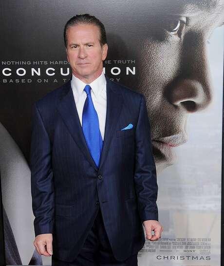 "HOLLYWOOD, CA - NOVEMBER 10: Dr Julian Bailes, Chairman of the Department of Neurosurgery and Co- Director of the NorthShore Neurological Institute, arrives at the AFI FEST 2015 Presented By Audi Centerpiece Gala Premiere of Columbia Pictures' ""Concussion"" at TCL Chinese Theatre on November 10, 2015 in Hollywood, California.  (Photo by Gregg DeGuire/WireImage) Photo: Gregg DeGuire / WireImage 2015"