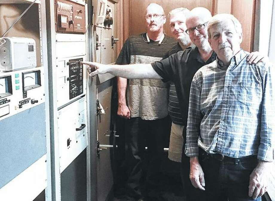 The switch to launch a new Jerseyville radio station was pushed this month. Station WJBM is at 104.7 FM. Photo: Jill Moon | Hearst Illinois